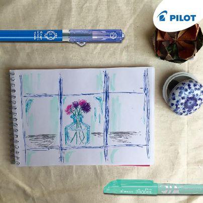 Aký pohľad z okna sa naskytne tebe? Maj perá pilot stále pri sebe, nech môžeš zachytiť akékoľvek momenty :) #moments #window #pen #creative #pilotpensk