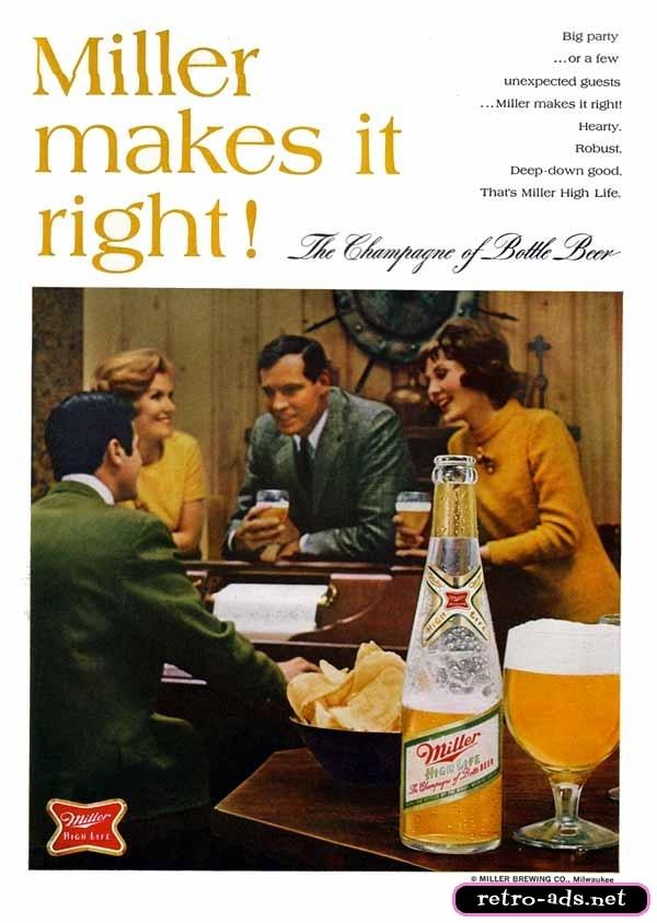 1968 Miller Light Ad   Yesterday   Pinterest   Lights