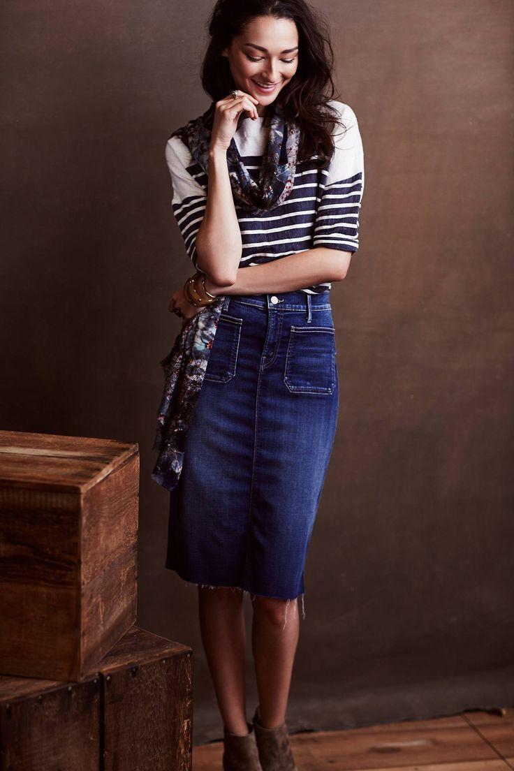 Jeans + listras + lenço