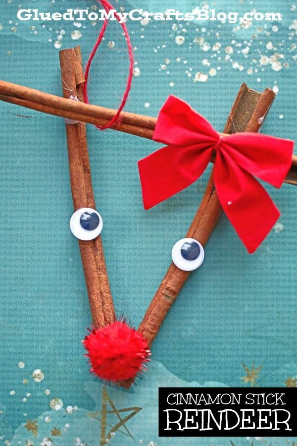 Diy Cinnamon Stick Reindeer Ornament Kid Craft Idea For