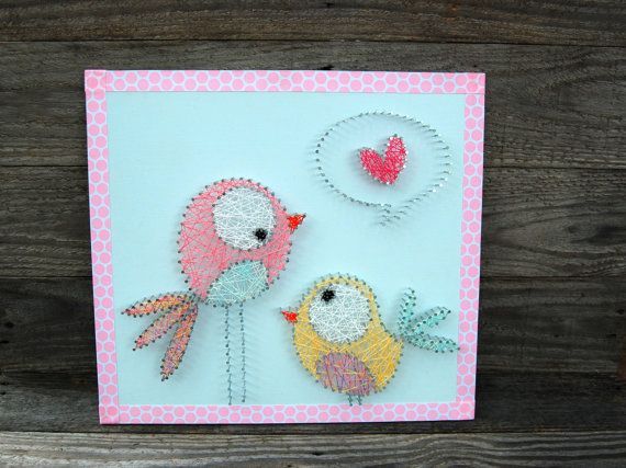 Hey, I found this really awesome Etsy listing at https://www.etsy.com/listing/170978118/adorable-bird-string-art-string-art