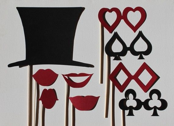 Alice in Wonderland Mad Hatter Photo Booth Set by LittleRetreats, $28.50