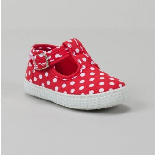 Red & White Polka Dot Shoe