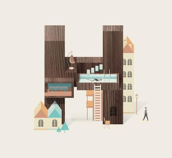 Heading to the South, happy #easterholidays to all! Resort Type_Letter H, by Jing Zhang