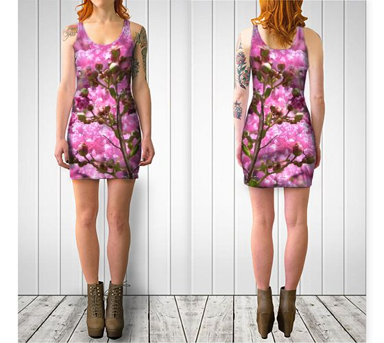 Pink Blossoms Bodycon Dress