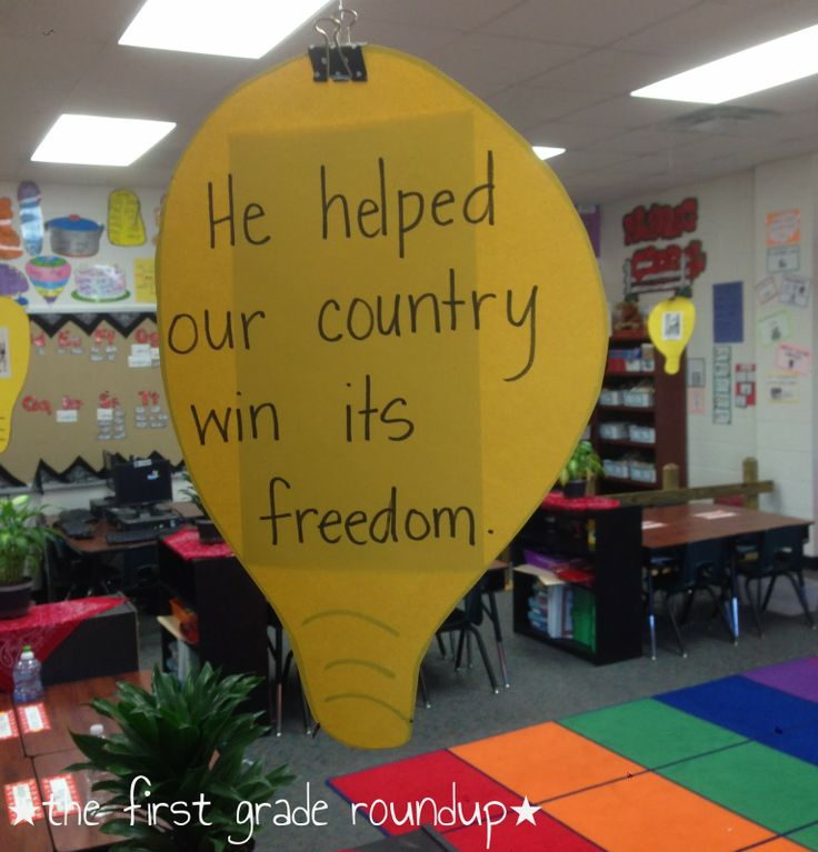 Happy President's Week: American Contributor table group signs and anchor charts.  thefirstgraderoundup.blogspot.com