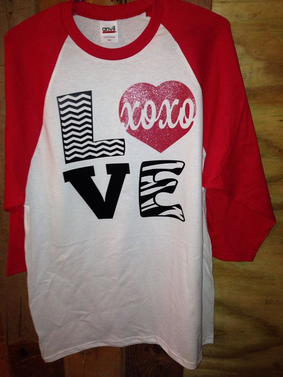 Love woman 39 s baseball shirt valentine 39 s day by sewmacy on for Best selling t shirts on etsy