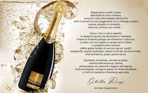 Ecco una poetica descrizione sul nostro Gran Cuvee Gold redatta dal Sommelier Enogastronomico Otello Renzi.  Un'analisi molto dettagliata di questo prestigioso vino che stupisce sin dal suo primo assaggio. Siete curiosi di degustarlo? #velenosivini #vino #gusto #profumi #bollicine #GranCuvèe #gold