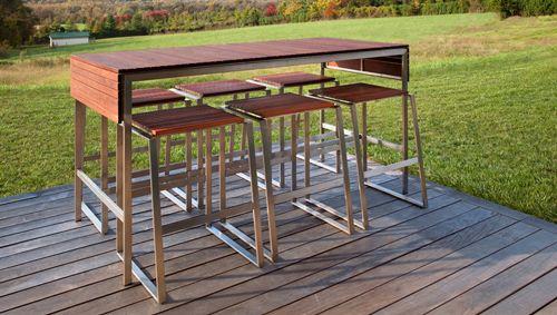 Outdoor bar furniture by Edwin Blue