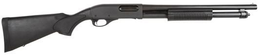 "Remington 5077 870 Express Tactical Pump 12 Ga, 18.5"", 3"", Synth Stock, Black, 6+1 Ext Tube"