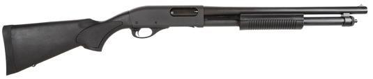 "Remington 5077 870 Express Tactical Pump 12 Ga, 18.5"", 3"", Synth Stock, Black, 6+1 Ext Tube"