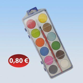 Σετ νερομπογιές 0,80 €-Ευρω