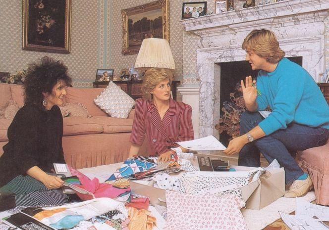 August 6 1986 Diana meets with David and Elizabeth Emanuel at Kensington Palace to discuss her forthcoming wardrobe