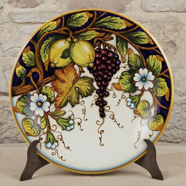 "Large 17"" decorative plate ~ Harvest Time"
