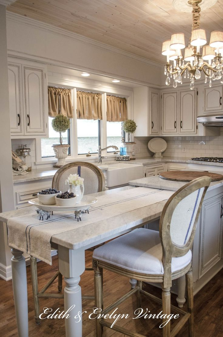 Vintage French Soul ~  Amazing French country kitchen transformation                                                                                                                                                                                 More