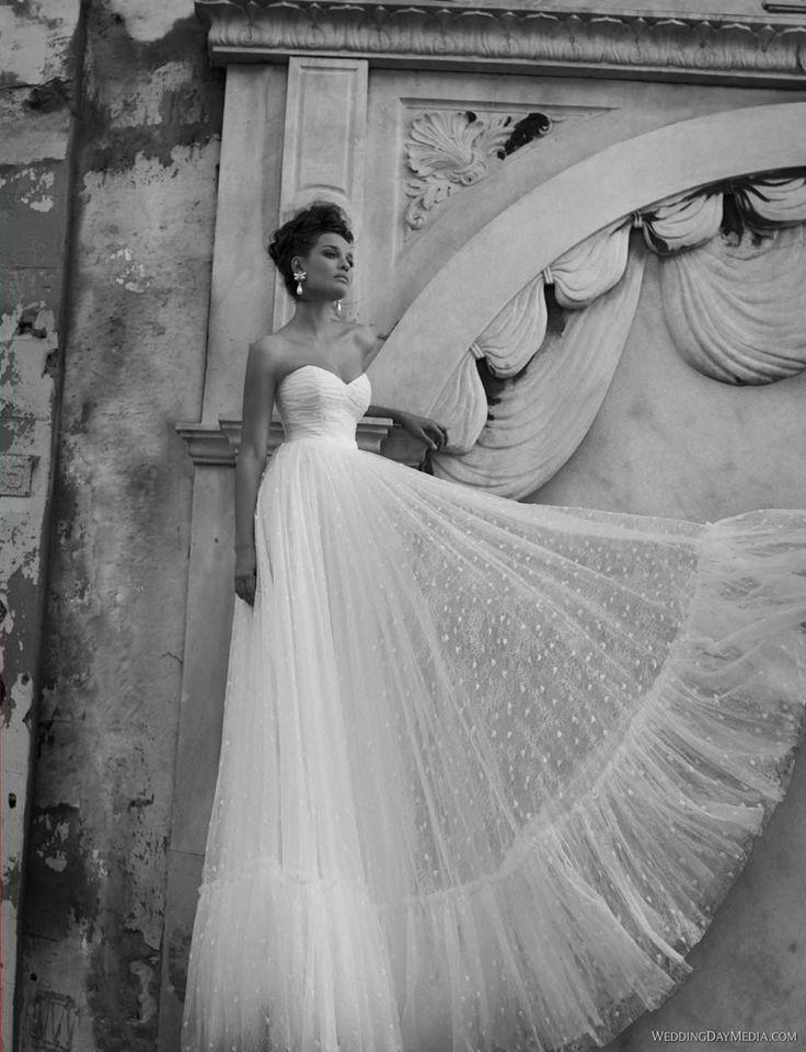 Inbal Dror свадебное платье в стиле прованс, бохо, рустик