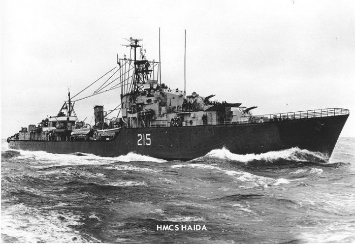 HMCS Hadia, in action during the Korean war.