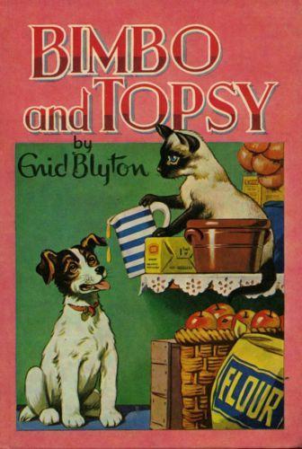 Bimbo-and-Topsy-by-Enid-Blyton-FREE-AUS-POST-Used-Vintage-Illustrated-Hardcover  www.sleepybearbooks.com