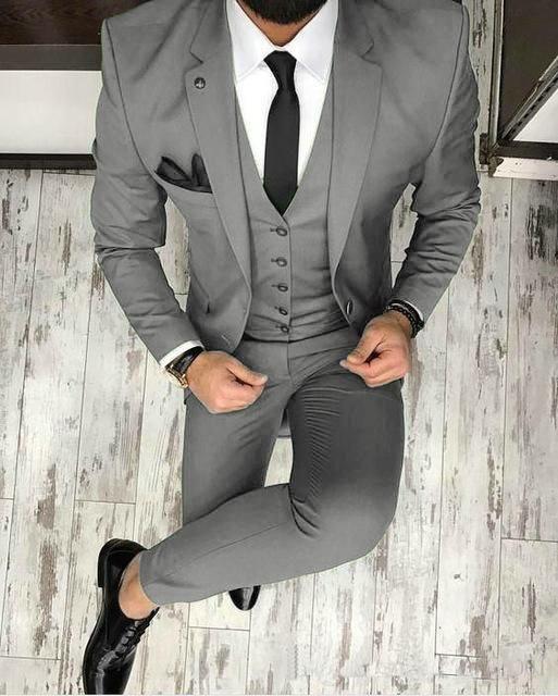 Dark green Men Blazer Prom Suit Outfits for Graduation ,Wedding Suit Three Piece… – Taj