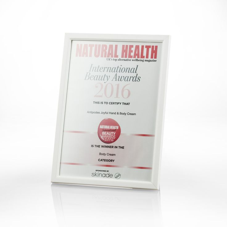 Antipodes are proud to announce we are the Winner of the Natural Health International Beauty Awards 2016 for the Body Cream category.