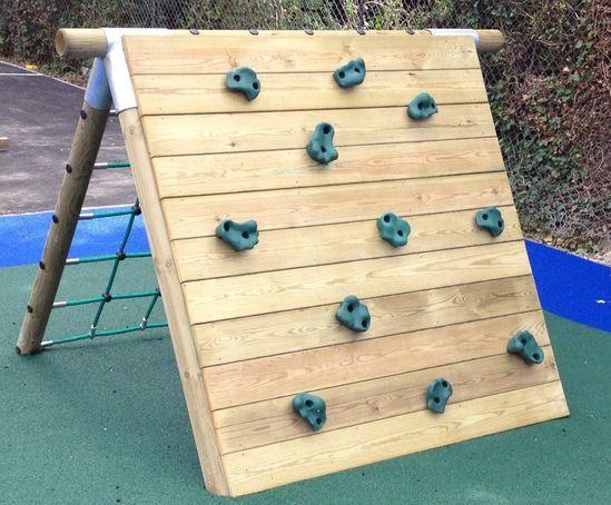 Climbing wall playground equipment