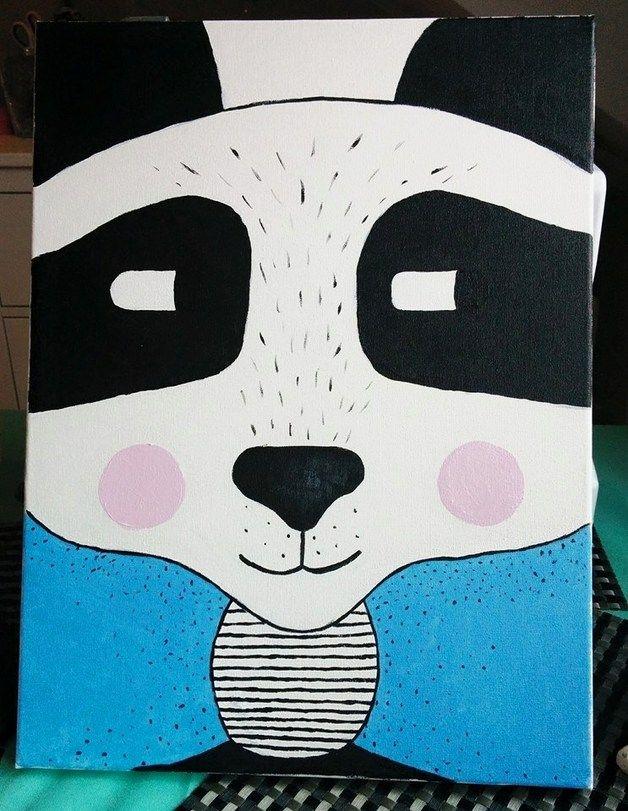 Obraz na płótnie PANDA 30x40 cm