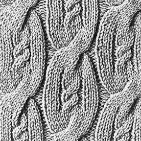 Knitting Pattern Square No. 1, Volume 34 | Purple Kitty
