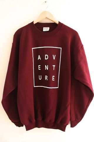 ADVENTURE Maroon Graphic Crewneck Sweatshirt – OliviaRoseInc