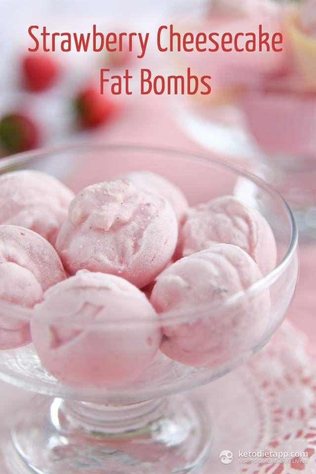 Strawberry Cheesecake Fat Bombs (keto, primal, low-carb) - great for the fat fast!