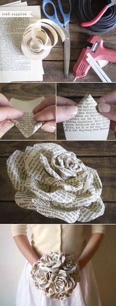 Storybook paper roses