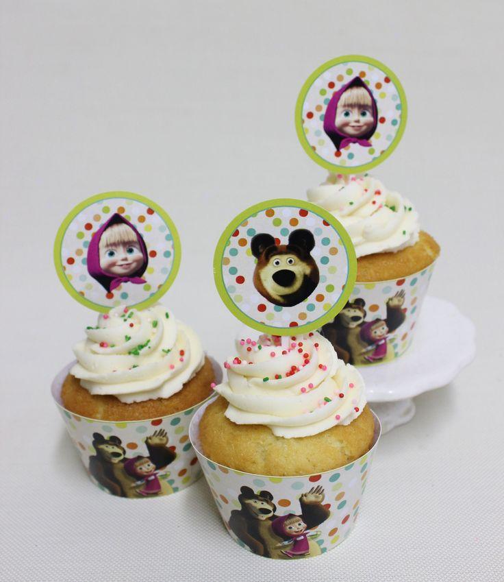 Masha y el Oso Cupcakes  Violeta Glace