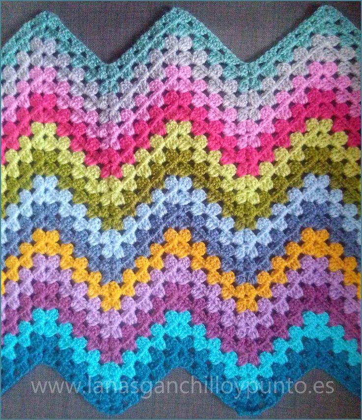 Famoso Patrón De Crochet Libre Para Mantas De Bebé Ideas - Manta de ...
