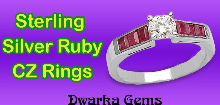 Sterling Silver Ruby CZ Rings