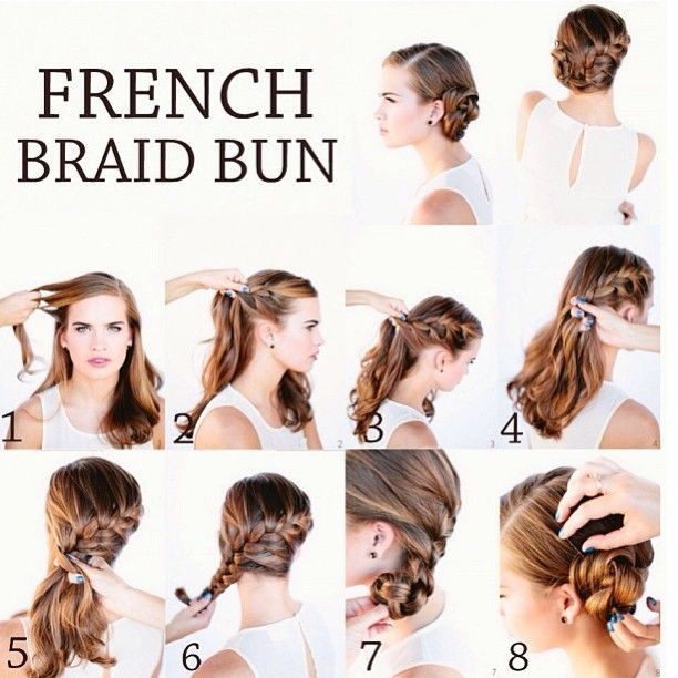 French braid bun updo Wedding Pinterest