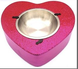 Glitzy Glam Hearty Bowl  Your dog or cat will feel like Royalty when they see this!