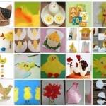 Venticinque e più progetti creativi per realizzare lavoretti sul tema Pasqua e primavera con soggetto pulcini, galline e galletti per la scuola d'infanzia e primaria. A seconda dell'età si va da semplici idee con pittura a tempera, sagome delle manine, riciclaggio, a progetti di cucito e ricamo…