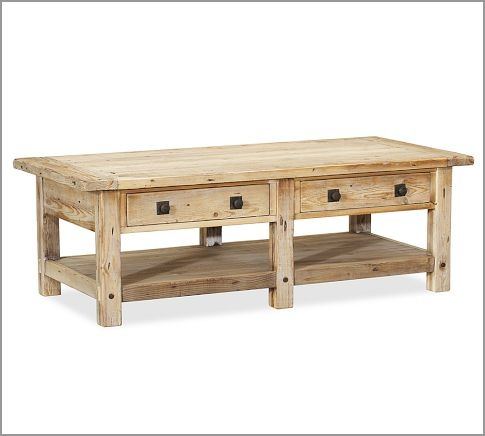 Benchwright Reclaimed Wood Coffee Table Wax Pine Finish Pottery Barn I Want This Think It