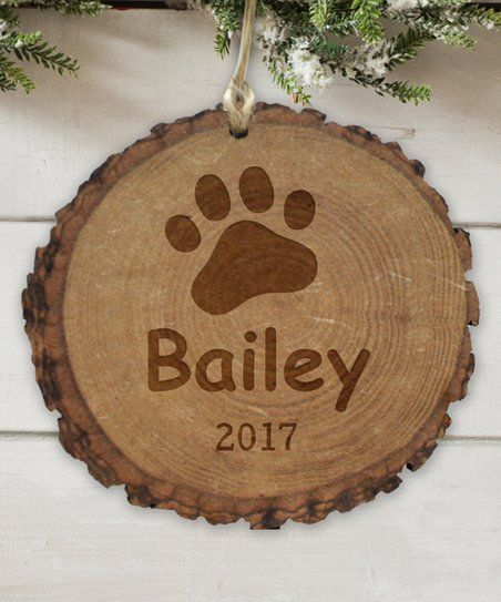 GiftsForYouNow Paw Wood Personalized Ornament   zulily