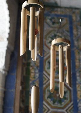 Bring the summer breeze indoors with these natural bamboo wind chimes - part of the JASSA limited edition collection. #IKEAcollections #WINDCHIMES #DECORATION #JASSA
