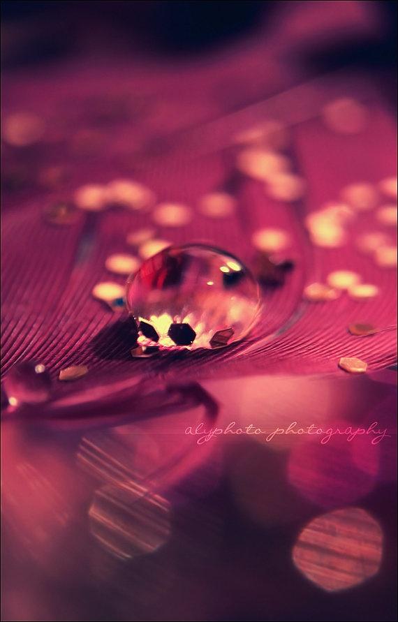 Anticipation Purple Bokeh Water Droplet