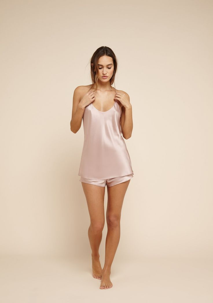 Give your bedroom repertoire a luxe feel with Olivia von Halle's Bella silk sleep set