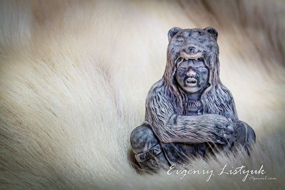 MARBLE Russian Handmade Souvenir Gift Native Siberian shaman with a tambourine in bear  skinold man with a tube on Etsy, 28,99$