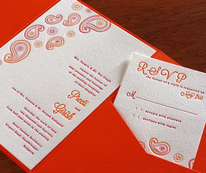paisley letterpress wedding invitation by invitations by ajalon