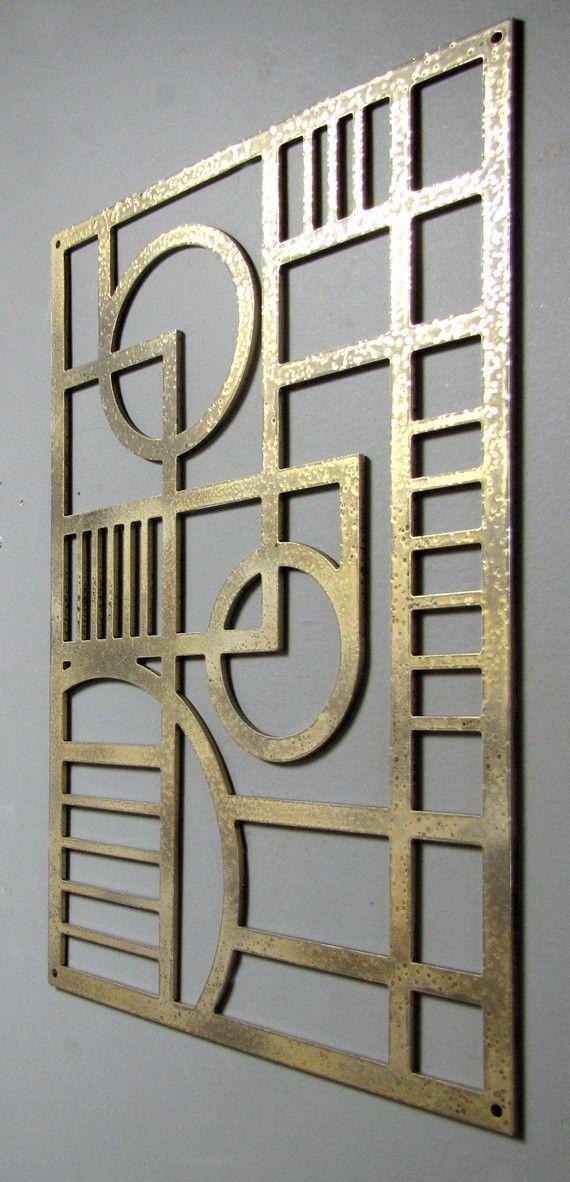 Art Deco Modern Aluminum Sculpture 12 X 17 by ModaIndustria, $89.00