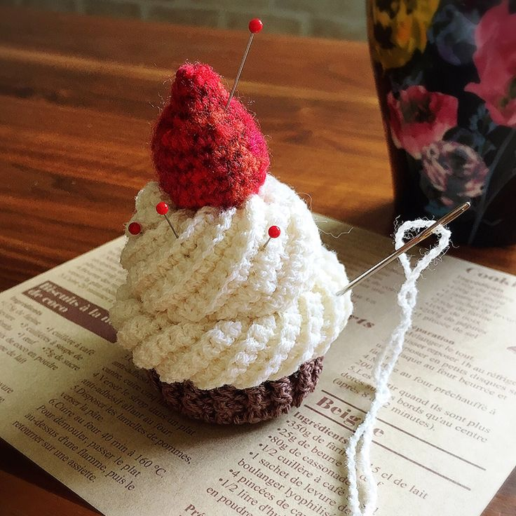 cup cake pin cushion better not eat