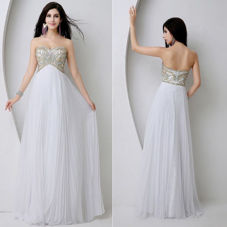 Sexy Long Chiffon Prom Dress Evening Party Cocktail Dress Bridesmaid Prom Gown