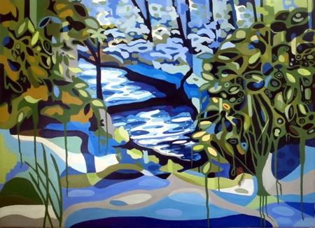 Patricia Mado  The Secret Lake - 2012  Oil on Canvas  100 x 75 cm