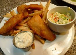 Fish and chips at D Grill at D Hotel Las Vegas