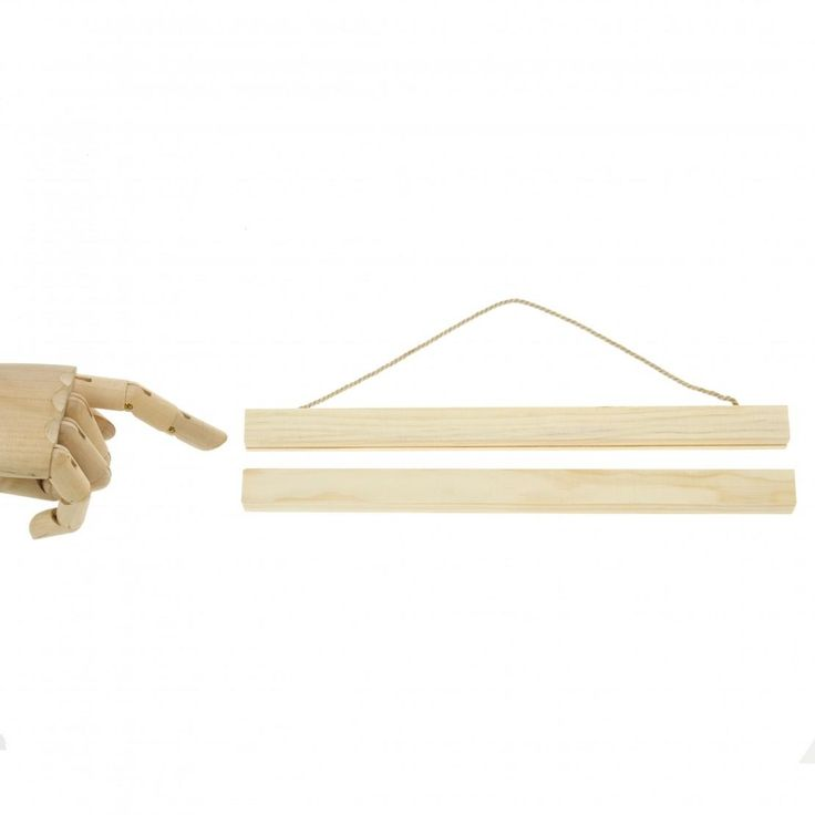 30cm wide wooden hanging system.