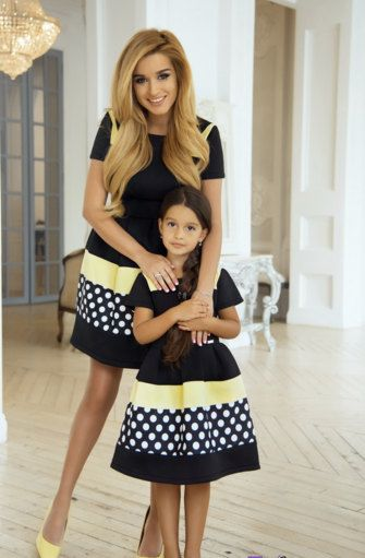 Matching dresses family outfits mother and daughter by GepurDress